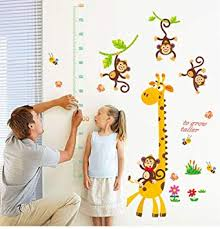 Monkey Growth Chart Wall Amazon Com Giraffe And Monkey Growth Chart Wall Decor