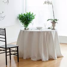 ivory round linen tablecloth