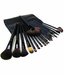 makeup brush set 24 pieces black in desh mac