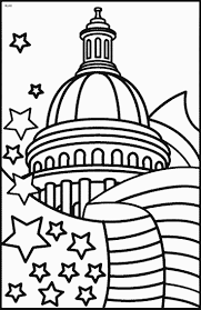 Patriotic 4th Of July Coloring Pages Free For Picnic Place Cards ...