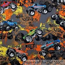BonEful Fabric FQ Cotton Quilt Gray Wild Graffiti Monster TRUCK ... & Image is loading BonEful-Fabric-FQ-Cotton-Quilt-Gray-Wild-Graffiti- Adamdwight.com