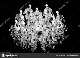 Kristall Oder Glas Kronleuchter Der Decke Mit Lichtern Und