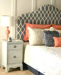diy fabric headboard allover stenciled fabric headboard diy fabric headboards for queen beds