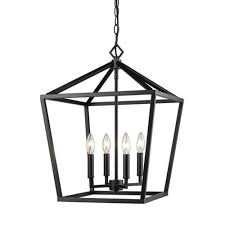 millennium lighting 3244 mb corona matte black four light lantern pendant