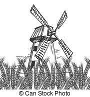 建物 農地 小麦 田舎 製粉所 風景 建物 平ら 農地 小麦 田舎