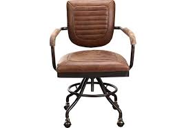 Brown Leather Desk Chair E18