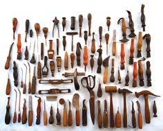 antique leather working tools. leather tooling, bag, antique tools, hand custom leather, crafts, workshop ideas, steampunk, working tools