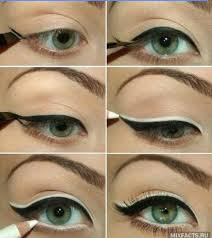 black and white eyeliner a how to on the biggest brightest retro eye makeup would look beautiful with a black cut crease