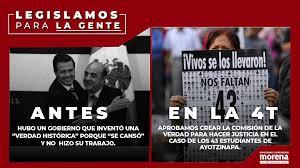 Diputados Morena - ¡Legislamos pensando en la gente! No pararemos hasta que  la justicia sea una realidad en el caso de los 43 estudiantes de  #Ayotzinapa, por eso aprobamos crear la Comisión