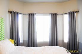DIY Bay Window Curtain Rod All Things Thrifty Within Curtains Idea 13