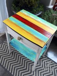 multi colored painted furniture. Multi Colored Painted Furniture. Bright Striped Side Table Furniture O