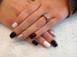 Eye Candy Nails & Training - Acrylic nails with black, silver and ...