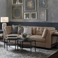 Leather sofa living room Grey Affinity Sofa Bassett Furniture Leather Sofas Living Room Furniture Bassett Furniture