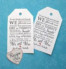 thank you tags for wedding favors amazon com wedding favor tags out of town wedding guest bag tags