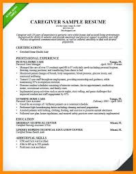 Caregiver Resume Samples Elderly Unique Resume Samples For Jobs