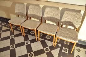 4 Esszimmerstühle Teakholz Casala Modell Um 1960