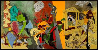 m f husain three dynasties 2008 2016 courtesy of usha mittal