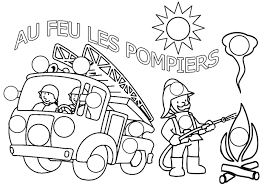 Camion De Pompier 40 Transport Coloriages Imprimer