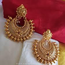Chandbali Design Plain Chandbali From Vasah Gold Earrings Designs Jewelry