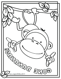 Baby Monkey Coloring Pages Free Monkey Coloring Pages Free Monkey