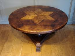 sold antique french circular oak centre table