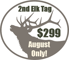 Game Sold Fish Nonresident And As Discounts Second Elk Tags CKCg5Myc