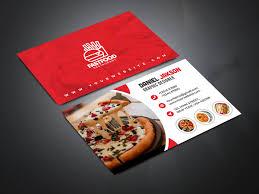 Fast Food Business Card Design Psd Fast Food Restaurant Business Card Design On Wacom Gallery