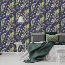 holden decor menali peacock design navy