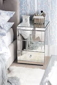 mirrored bedside table. mirrored bedside tables with 3 drawers · zoom table