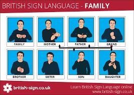 Family Signs British Sign Language