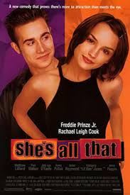 "my fair lady and other pyg on adaptations ny daily news rachel leigh cook goes from art geek to prom queen in ""she s all that"