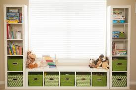 Shelves Around Window Mybellabug Playroom Seating Bench And Toy Storage
