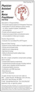 Physician Assistant Or Nurse Practitioner Full Time Job In West