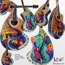 custom painted mandolin
