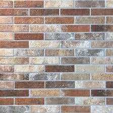 6x25cm london brick slip multicolour tile by rondine