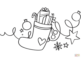 Small Picture Xmas Stocking coloring page Free Printable Coloring Pages
