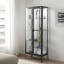 detolf glass door cabinet white 16 3