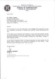 Letter Of Approval From Director Ocampo