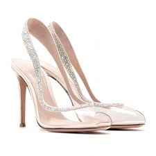 Clear Glass Wedding Shoes