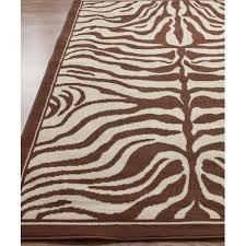 nuloom safari zebra print brown rug nueb01b 53079 nueb01b 71001010