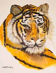 Mother's Tiger Painting by Carole Cantrell