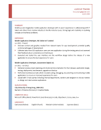 Mobile Application Developer CV