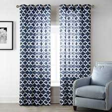 Printed Curtains Living Room Aliexpresscom Buy Blue Modern Style Bedroom Curtains Printed