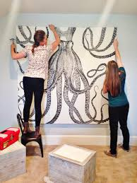 diy easy build inexpensive wall art ideas octopuss home painting decoration animals monochrome on inexpensive wall art projects with wall art design ideas diy easy build inexpensive wall art ideas