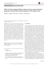 Effect Of Static Magnetic Field On Microstructures And