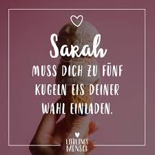 Visual Statements Sarah Muss Dich Zu Fünf Kugeln Eis Deiner Wahl