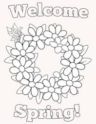 Spring Coloring Pages For Kids Ymca Club Kid Spring Coloring