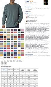 Comfort Colors Shirt Size Chart Comfort Colors C6014 Ringspun T Shirt Amazon Co Uk Clothing