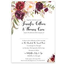 Sample Of Weeding Invitation Floral Love Flat Wedding Invitation Sample