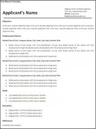 Free Blank Resume Templates For Microsoft Word | Bravebtr